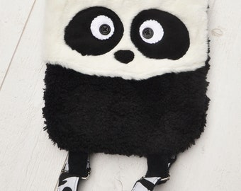 Backpack child baby Panda fur, fun and colorful
