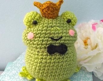 Amigurumi Crochet Frog Prince Pattern Digital Download