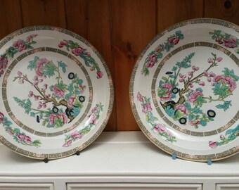 Vintage Indian Tree plates/ salad plates/ dessert plates /English tableware/set of 6/