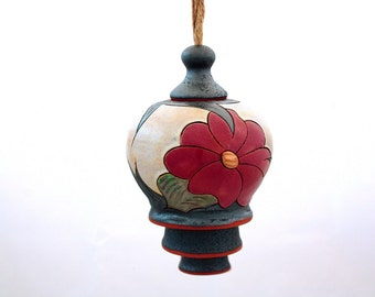 Garden Bell, Handmade Windchime, Wind chime, Ceramic bell, Garden decor, Flower Pottery, Ringing Bell, Mother's day gift, Pottery bell
