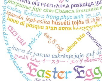 DIY Printable Easter Egg Card Templates with Customizable Greeting