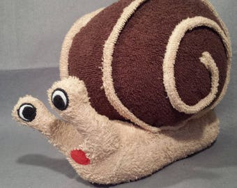 "Plush Stuffed snail ""Ludo"" approximately 30 x 25 cm"
