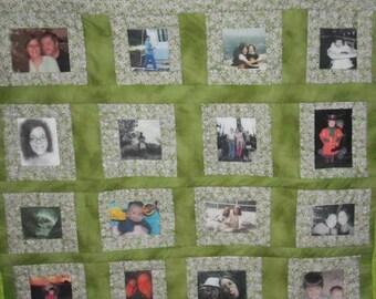 24 photo Handmade Memory Quilt