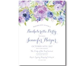 Floral Bachelorette Party Invitation, Floral Bachelorette Party, Watercolor Flower, Floral Invite, Bachelorette Party Invite #CL330