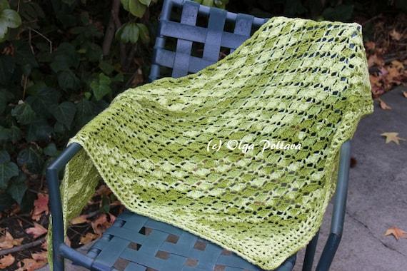 Avocado Green Shawl Crochet Pattern Prayer Shawl Easy