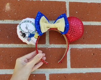 Snow white puffy mouse ears
