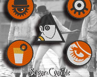 A Clockwork Orange Patch Set    --5 PATCHES--