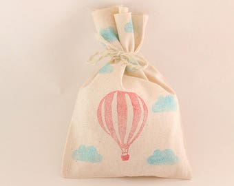 HOT AIR BALLOON party Favour Bags - Hot air balloon party, hot air balloon favours, hot air balloon loot bags, hot air balloon favors x 10