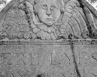 Americana Angel Art, Cemetery Art Cherub Photography, Macabre Oddity Gothic Home Decor,Victorian Art,Headstone Wall Art,Halloween Decoration