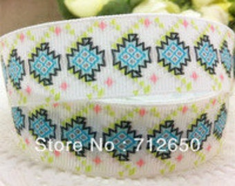 clearance Fiesta neon white pink green grosgrain ribbon 25mm 1 inches 1 yard