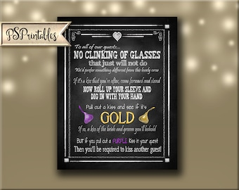 Wedding Kisses Game - Customize with YOUR colors - Five sizes available  - Rustic Heart Collection - chocolate kisses - personalized kisses