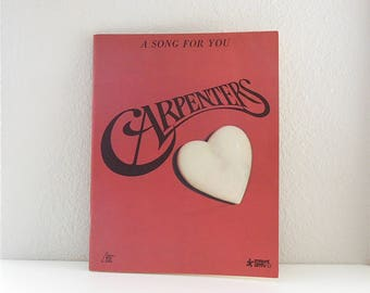 Sheet Music Carpenters A Song for You Songbook Music Songs Piano Vocal Guitar Sheet Music Lyric Top of the World Hurting each other lovesong