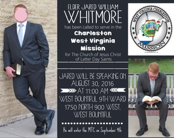 Elder Missionary Farewell Invitation