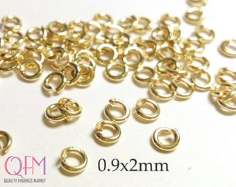 WHOLESALE Gold Filled Jump Rings 19 Gauge 0.9 x 2mm Hard Snap Jump Rings, Locking Jump Rings, Jump Rings