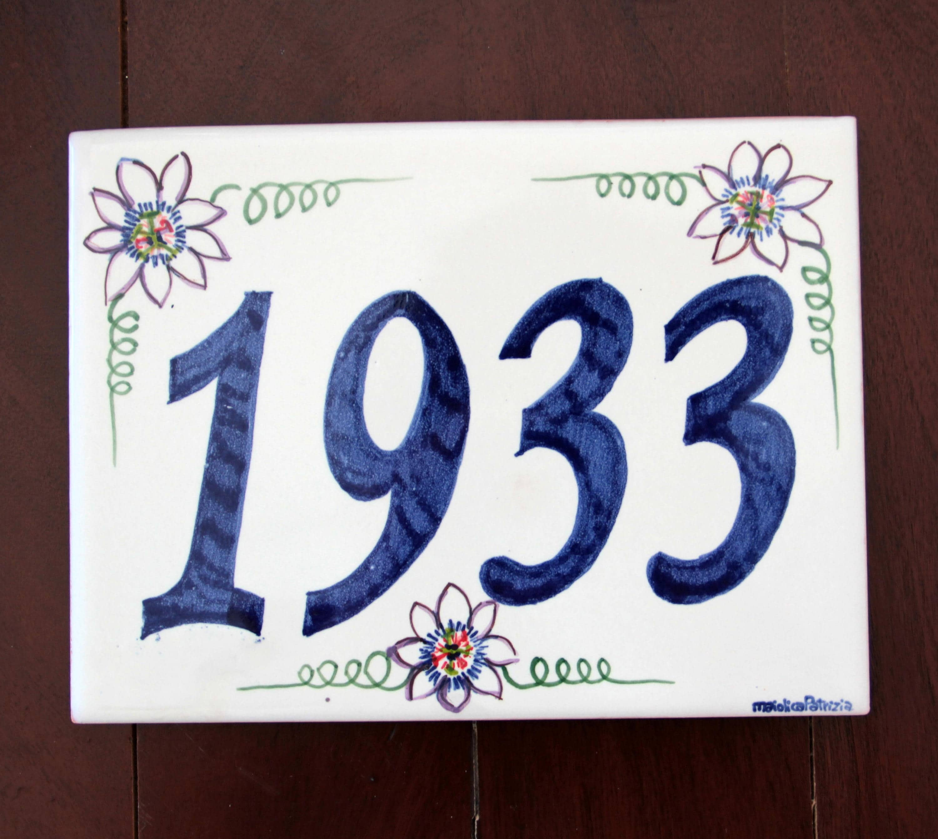 Rectangular plaque italian pottery outdoor numbers italian rectangular plaque italian pottery outdoor numbers italian majolica tile house sign customized plaque painted ceramic name sign italy dailygadgetfo Gallery