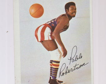 "Pablo ""Pabs"" Robertson Harlem Globetrotters Fleer Cocoa Puffs trading card circa 1971"