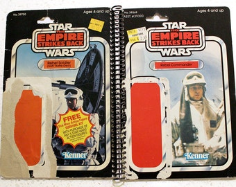 Rebel Commander and Rebel Soldier Recycled Vintage Star Wars ESB Notebook/Journal