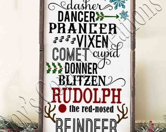 Rudolph the Red nosed reindeer   SVG, PNG, JPEG