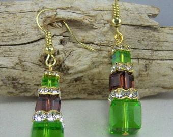 E397, Swarovski Crystal Earrings