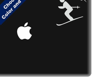 Skier Decal - Skiing Sticker -  For Car, Window, Laptop, Wall
