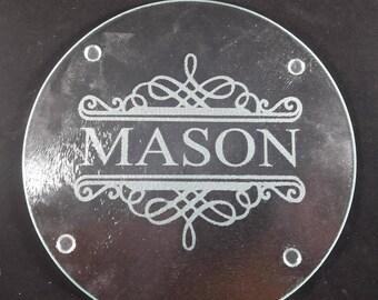 Custom etched glass cutting board/Prep board