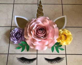 Set of 3 Roses- Unicorn