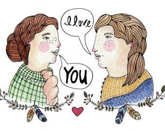 Lady Love Greeting Card