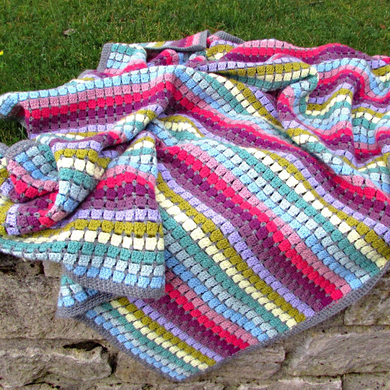 Jahrgang Regenbogen häkeln Decke Bausatz häkeln Geschenk