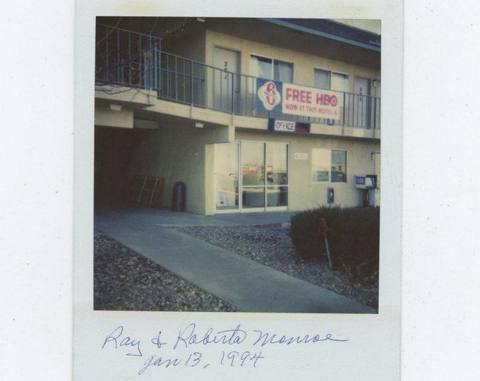Vintage Polaroid SX-70 Snapshot Photo: Motel 6 [86688]