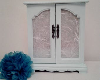 Jewellery Armoir/Jewellery storage Musical Floral Shabby Chic