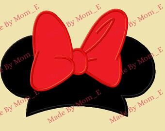 Mrs Mouse Head Cap Applique