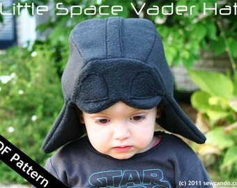 Little Space Vader Hat PDF Pattern
