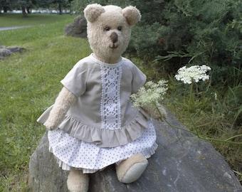 Teddy bear kids bear teddy toy bear toy stuffed animal plush teddy stuffed bear gift for her artist teddy bear collectible bear gift bear