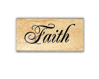 Faith mounted rubber stamp, Christian, bible journaling stamp, Sweet Grass Stamps #22