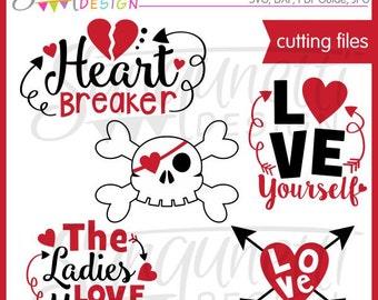 Valentine SVG, Valentine Word Art, Love SVG, DXF, Valentine Clipart, Love Clipart, svg Files for Cutting Machines Cameo or Cricut