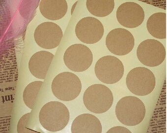 Plain brown kraft labels / brown kraft stickers