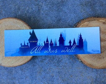 All Was Well Bookmark