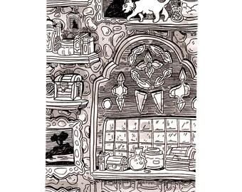 Inktober Original Illustration - Oct 10 2017