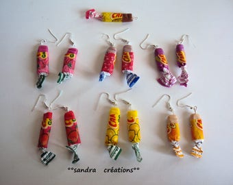 pair earrings candy caram'bar * choice *.