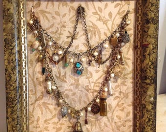 Magpie Necklace in Display Frame