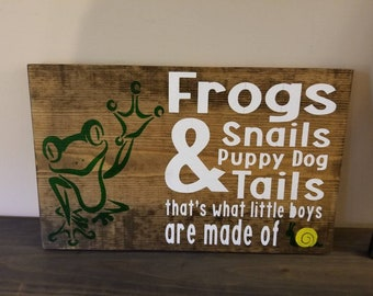 Frog, snails and puppy dog tails