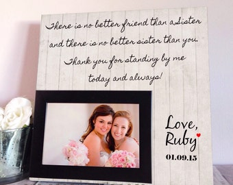 Sister Wedding Gift - Maid Of Honor Gift - Bridesmaid Gift - Sister Wedding Gift - Gift For Sister - Sister Birthday Gift - Best Friend Gift