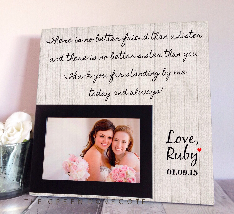 Sister Wedding Gift Maid Of Honor Gift Bridesmaid Gift