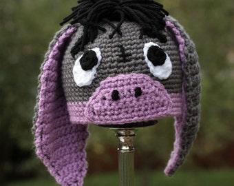 Donkey Hat Crochet Pattern for Making Little Donkey Hat for Baby Photo Prop PDF