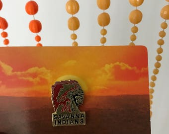 Vintage Deadstock Savanna Indians Tribe Chief Pin