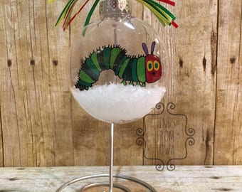Very Hungry Caterpillar Floating Ornament - can be personalized