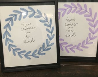 have courage and be kind words (set of 2)