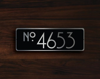 CUSTOM HOUSE NUMBER Sign, Outdoor House Number Plaque, Custom House Number Plaque, House Numbers, House Numbers Modern, House Number Sign