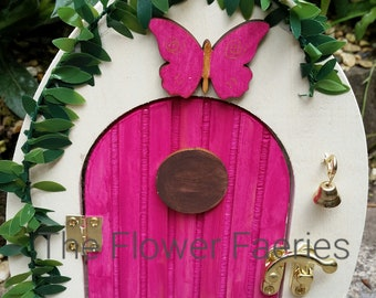 Fairy door -Pink Butterfly, can be personlised