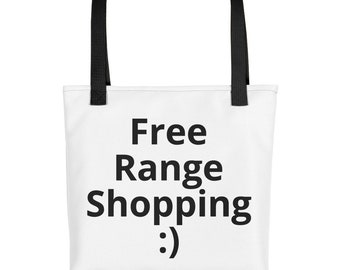 Reusable, eco-friendly Tote bag for all kinds of shopping from clothing to groceries.